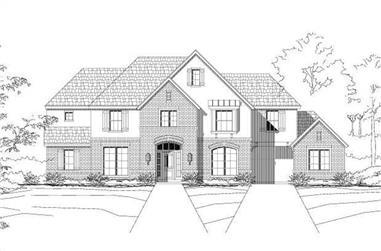 5-Bedroom, 4050 Sq Ft Luxury Home Plan - 156-1351 - Main Exterior