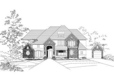 4-Bedroom, 5449 Sq Ft Country Home Plan - 156-1352 - Main Exterior