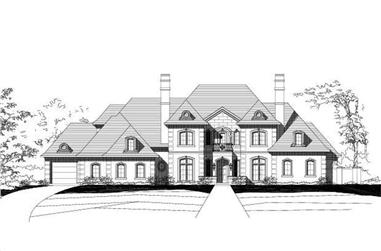 5-Bedroom, 5467 Sq Ft French House Plan - 156-1353 - Front Exterior