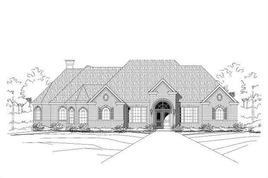 3-Bedroom, 2757 Sq Ft Ranch Home Plan - 156-1354 - Main Exterior
