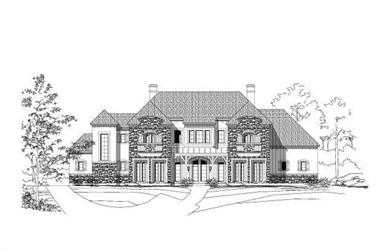 4-Bedroom, 5452 Sq Ft Luxury House Plan - 156-1355 - Front Exterior