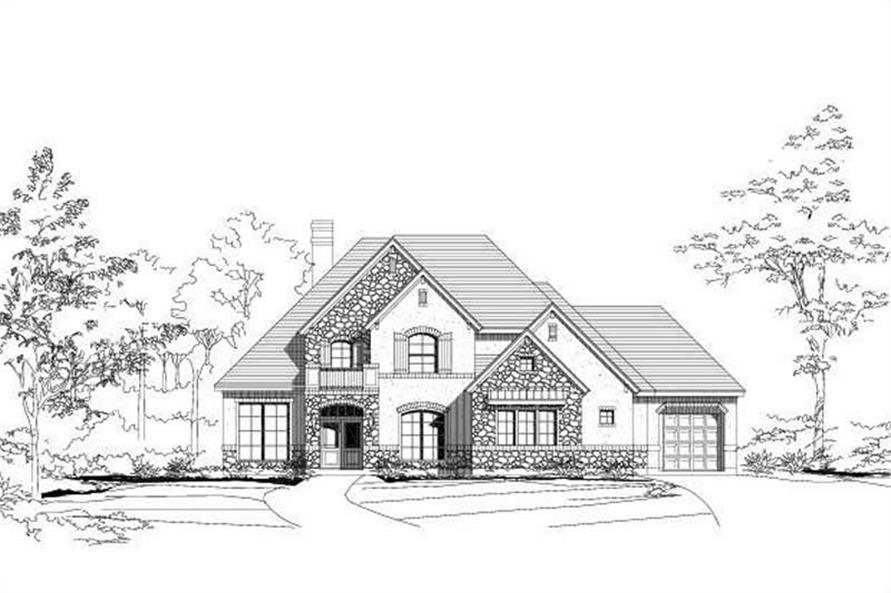 4-Bedroom, 3686 Sq Ft Country Home Plan - 156-1356 - Main Exterior