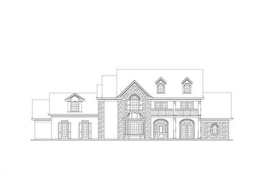 4-Bedroom, 4765 Sq Ft Luxury Home Plan - 156-1357 - Main Exterior