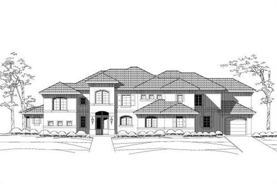 5-Bedroom, 5403 Sq Ft Luxury House Plan - 156-1358 - Front Exterior
