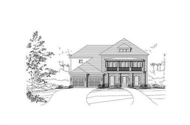 5-Bedroom, 4021 Sq Ft Colonial Home Plan - 156-1359 - Main Exterior