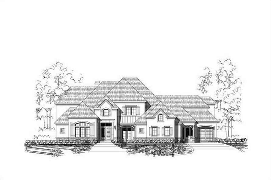 5-Bedroom, 6661 Sq Ft Country Home Plan - 156-1360 - Main Exterior
