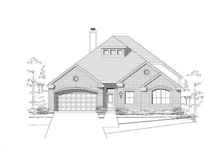 3-Bedroom, 2665 Sq Ft Traditional House Plan - 156-1361 - Front Exterior