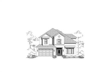 3-Bedroom, 3036 Sq Ft Traditional House Plan - 156-1362 - Front Exterior