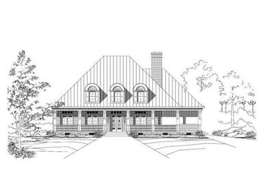 4-Bedroom, 3695 Sq Ft Country House Plan - 156-1364 - Front Exterior