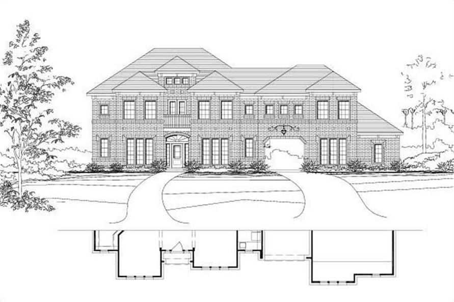 5-Bedroom, 4350 Sq Ft Luxury House Plan - 156-1366 - Front Exterior