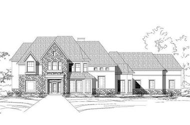 5-Bedroom, 5445 Sq Ft Luxury House Plan - 156-1367 - Front Exterior