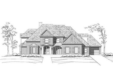 5-Bedroom, 5498 Sq Ft Luxury House Plan - 156-1368 - Front Exterior
