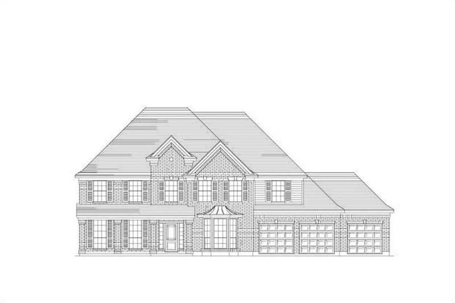 6-Bedroom, 4792 Sq Ft Luxury House Plan - 156-1369 - Front Exterior