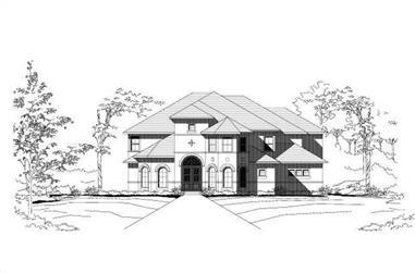 6-Bedroom, 6601 Sq Ft Luxury Home Plan - 156-1370 - Main Exterior