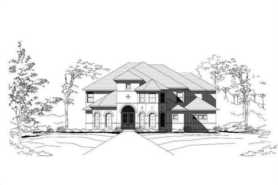 6-Bedroom, 6601 Sq Ft Luxury Home Plan - 156-1370 - Main Exterior