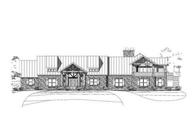 4-Bedroom, 4635 Sq Ft Country Home Plan - 156-1372 - Main Exterior