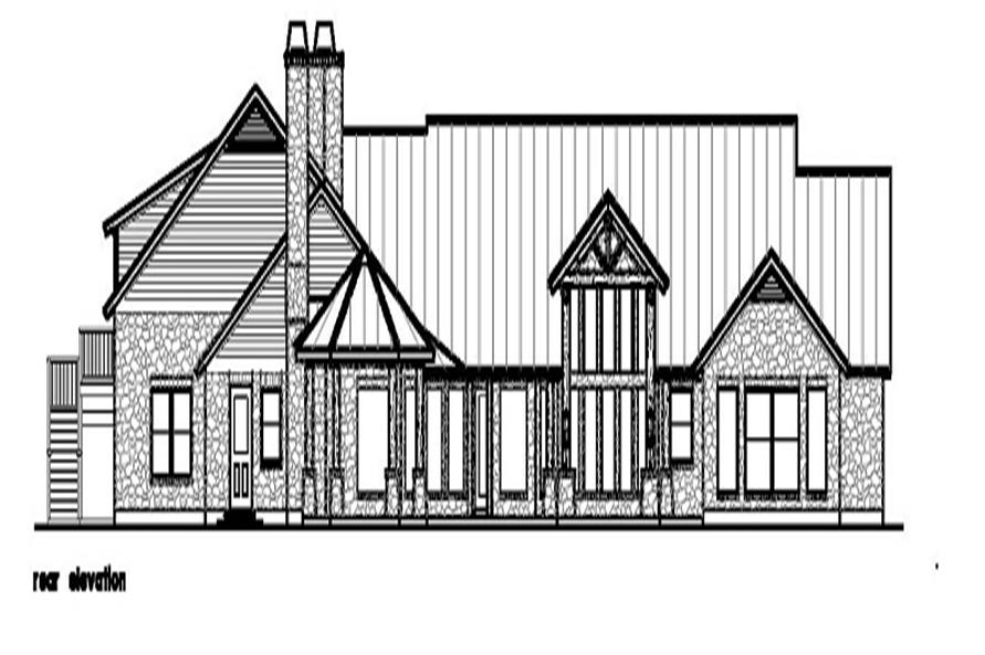 Home Plan Rear Elevation of this 4-Bedroom,4635 Sq Ft Plan -156-1372