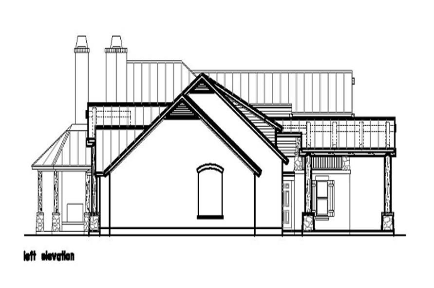 Home Plan Left Elevation of this 4-Bedroom,4635 Sq Ft Plan -156-1372