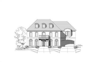 6-Bedroom, 5883 Sq Ft Luxury Home Plan - 156-1373 - Main Exterior