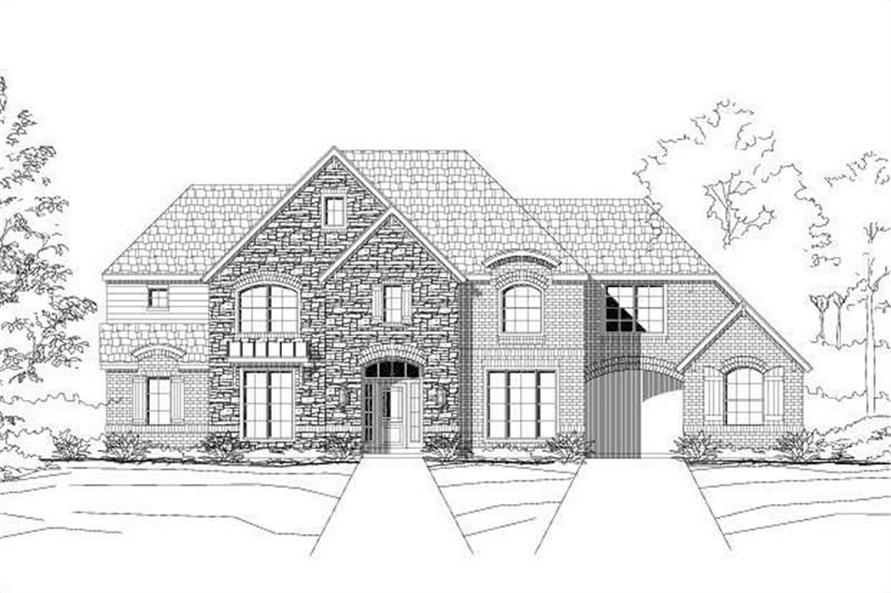 5-Bedroom, 3801 Sq Ft Luxury Home Plan - 156-1374 - Main Exterior