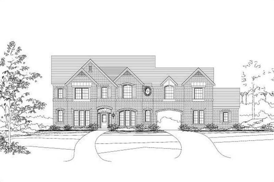 5-Bedroom, 4350 Sq Ft Luxury House Plan - 156-1375 - Front Exterior
