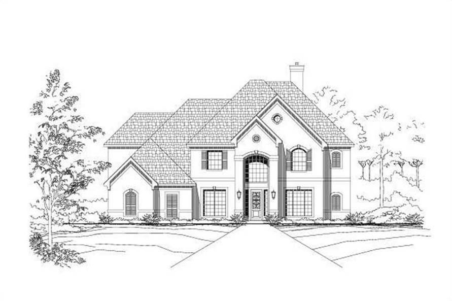 4-Bedroom, 4388 Sq Ft Luxury Home Plan - 156-1376 - Main Exterior