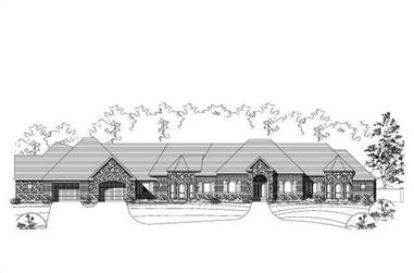 4-Bedroom, 4779 Sq Ft Country House Plan - 156-1379 - Front Exterior