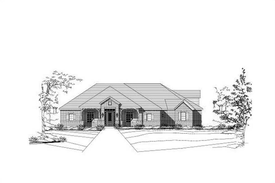 4-Bedroom, 3675 Sq Ft Luxury House Plan - 156-1380 - Front Exterior