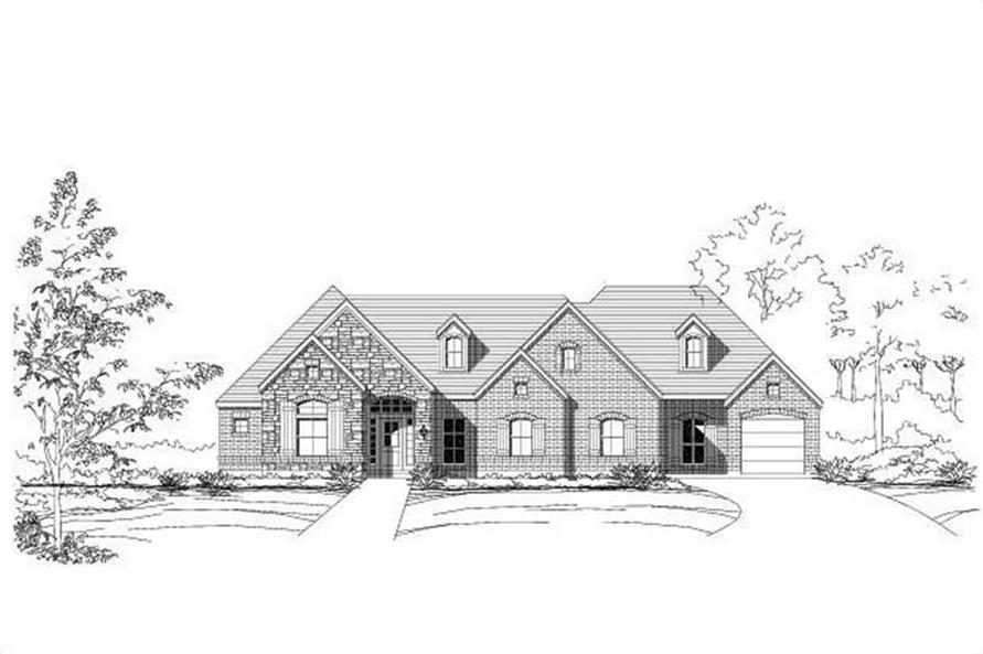 4-Bedroom, 2732 Sq Ft Country House Plan - 156-1381 - Front Exterior