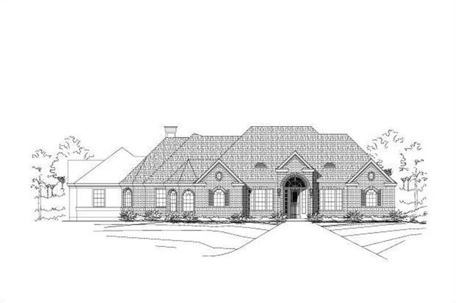 3-Bedroom, 2748 Sq Ft Ranch Home Plan - 156-1384 - Main Exterior