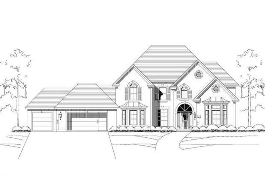 4-Bedroom, 4233 Sq Ft Luxury Home Plan - 156-1385 - Main Exterior