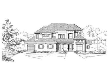 4-Bedroom, 5287 Sq Ft Luxury Home Plan - 156-1386 - Main Exterior