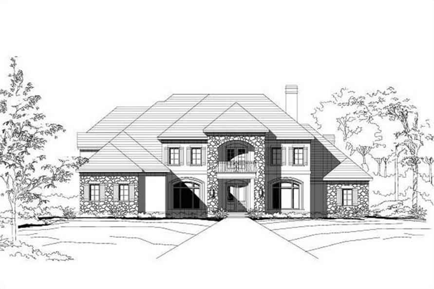 4-Bedroom, 4722 Sq Ft Country House Plan - 156-1387 - Front Exterior