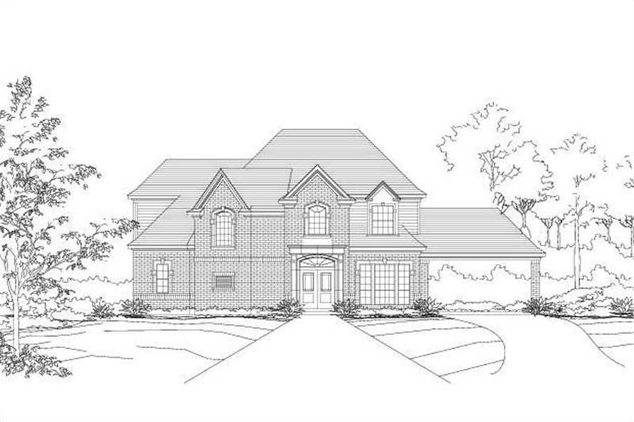 4-Bedroom, 3918 Sq Ft Luxury Home Plan - 156-1388 - Main Exterior
