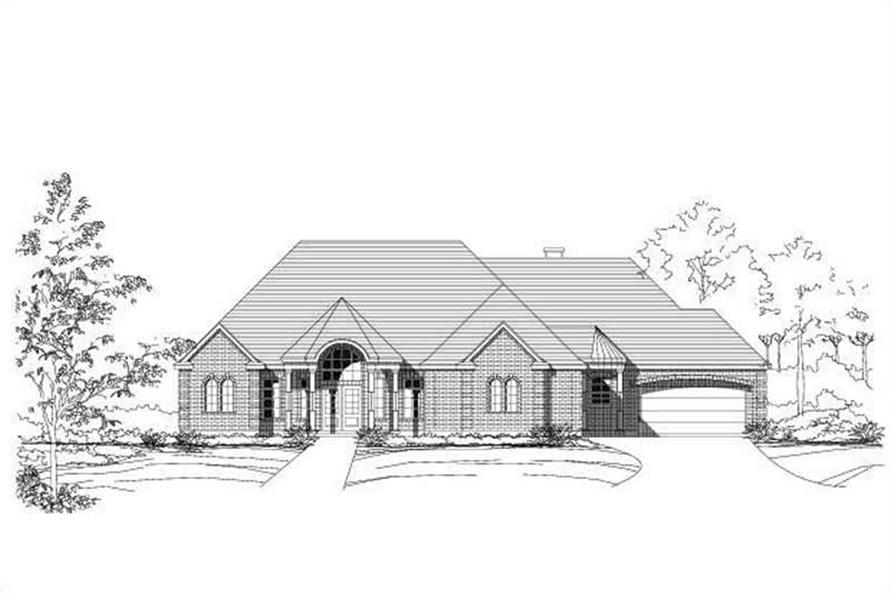 3-Bedroom, 3272 Sq Ft Ranch Home Plan - 156-1389 - Main Exterior