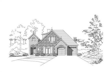 3-Bedroom, 3433 Sq Ft Country Home Plan - 156-1390 - Main Exterior