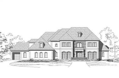 4-Bedroom, 7147 Sq Ft Luxury Home Plan - 156-1391 - Main Exterior