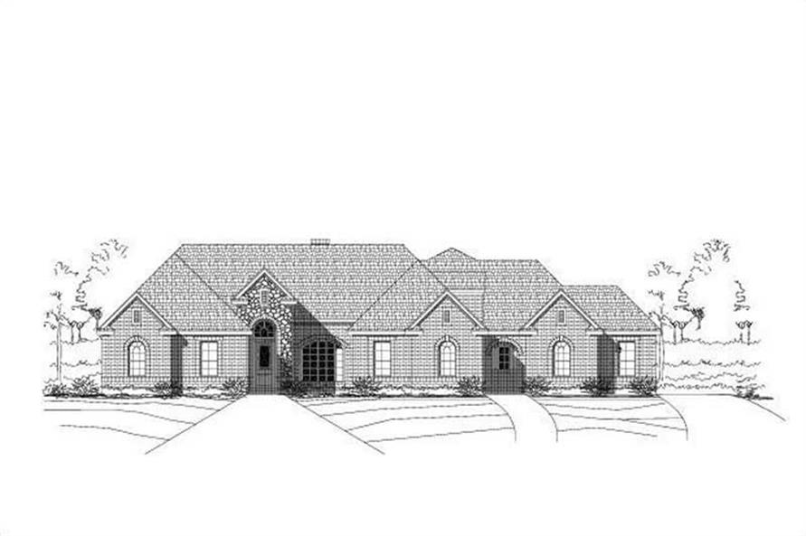 4-Bedroom, 3753 Sq Ft Luxury House Plan - 156-1392 - Front Exterior