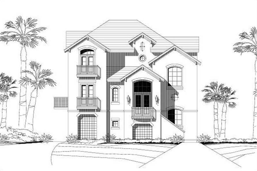 4-Bedroom, 2660 Sq Ft Coastal Home Plan - 156-1393 - Main Exterior