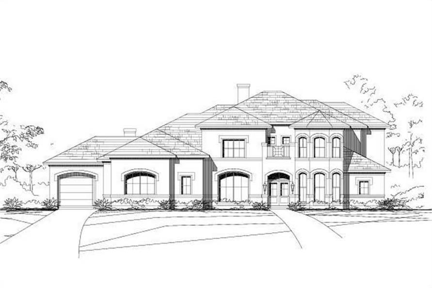 5-Bedroom, 5136 Sq Ft Luxury Home Plan - 156-1394 - Main Exterior