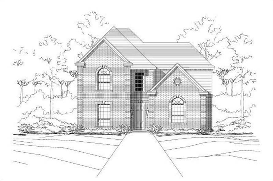 4-Bedroom, 2713 Sq Ft French House Plan - 156-1395 - Front Exterior