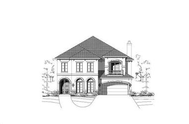 4-Bedroom, 5241 Sq Ft Luxury Home Plan - 156-1397 - Main Exterior