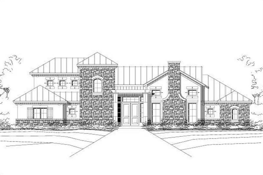 3-Bedroom, 2817 Sq Ft Southwest Home Plan - 156-1398 - Main Exterior