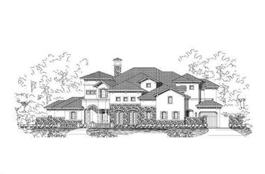 5-Bedroom, 5232 Sq Ft Luxury Home Plan - 156-1399 - Main Exterior