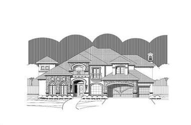 5-Bedroom, 5124 Sq Ft Luxury Home Plan - 156-1400 - Main Exterior