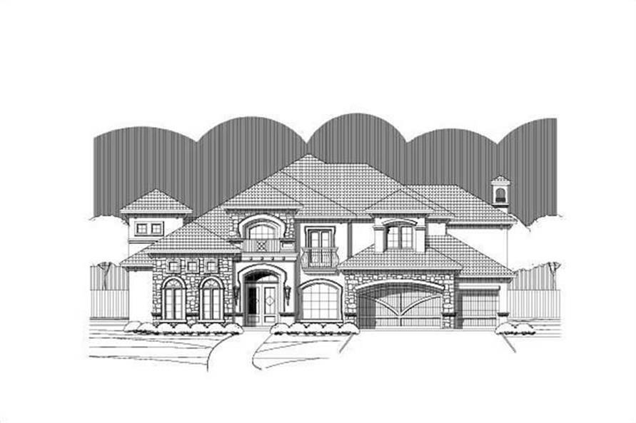 5-Bedroom, 5124 Sq Ft Luxury Home Plan - 156-1400 - Main Exterior