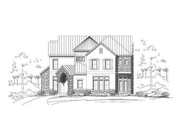 4-Bedroom, 5469 Sq Ft Country House Plan - 156-1405 - Front Exterior