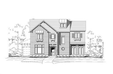 4-Bedroom, 5185 Sq Ft Luxury House Plan - 156-1406 - Front Exterior