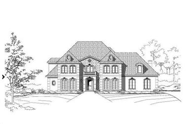 4-Bedroom, 5208 Sq Ft French Home Plan - 156-1407 - Main Exterior