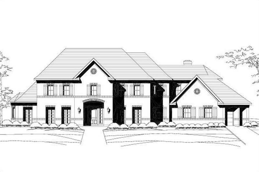 4-Bedroom, 5187 Sq Ft Luxury Home Plan - 156-1408 - Main Exterior